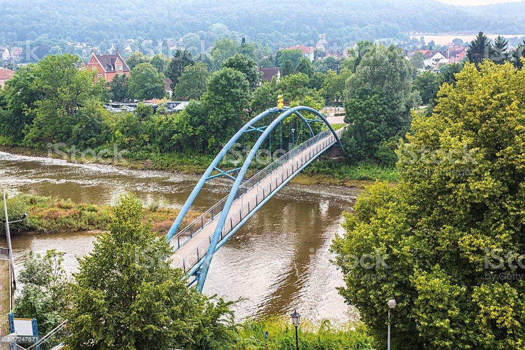 Bridge in Hameln (Germany) stock photo