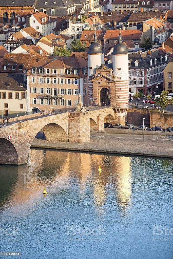 Bridge in Heidelberg Germany stock photo