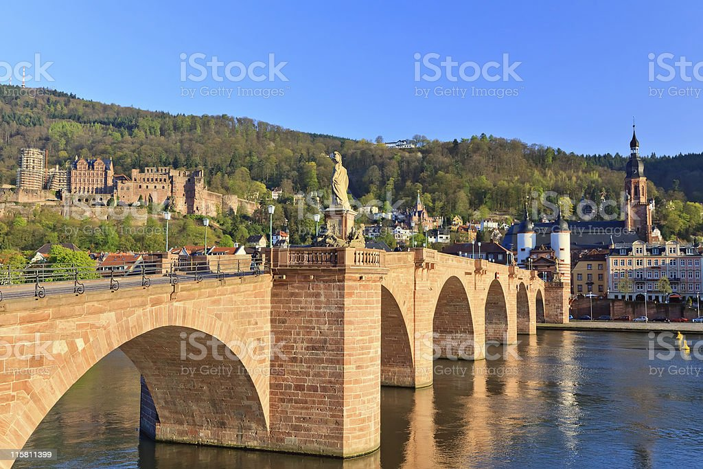 Bridge in Heidelberg stock photo