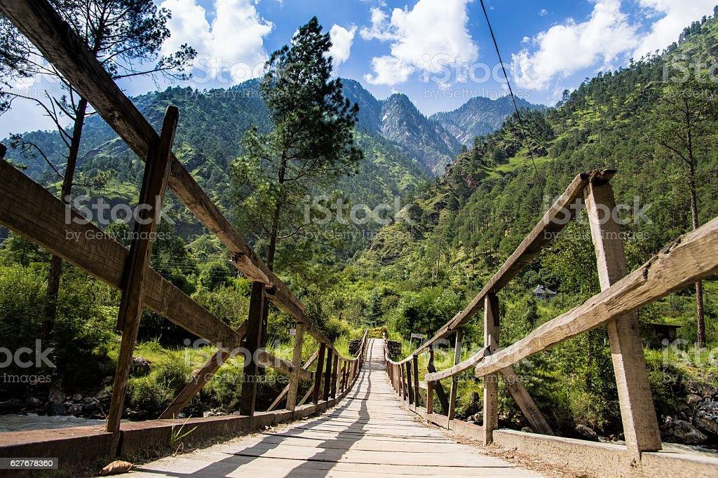 Bridge in India stock photo