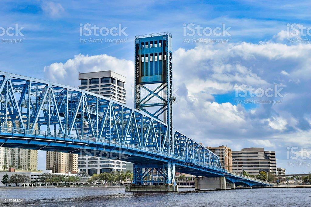 Bridge in Jacksonville, Florida stock photo