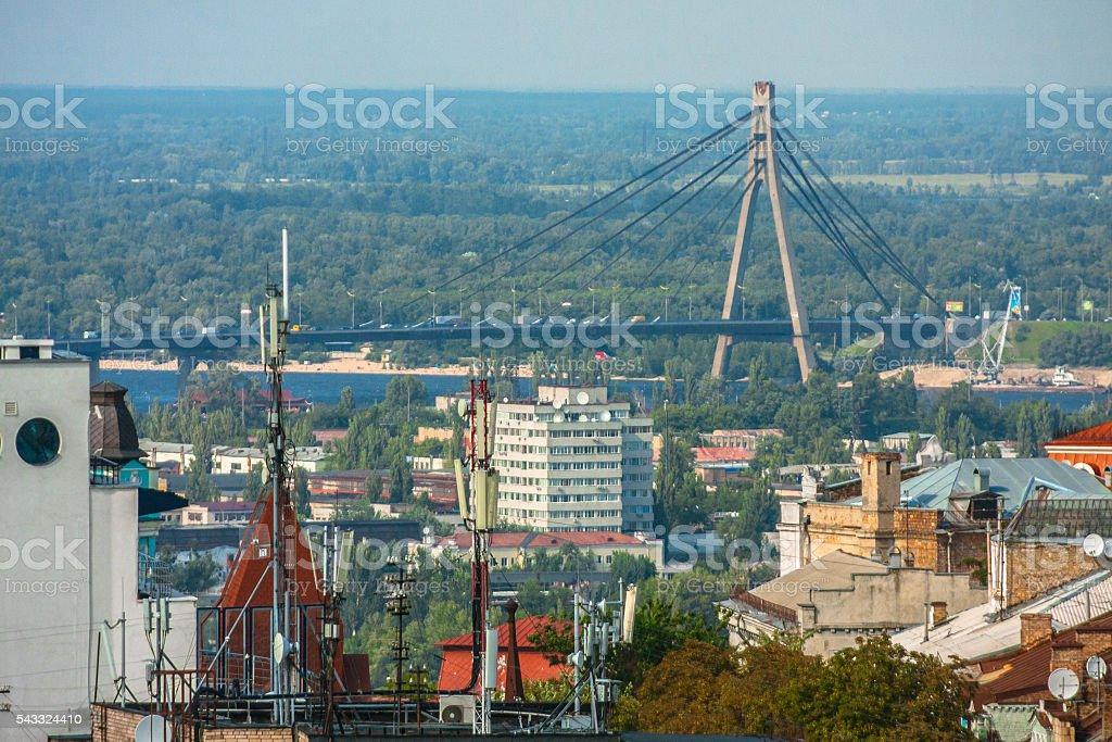 Bridge in Kiev stock photo