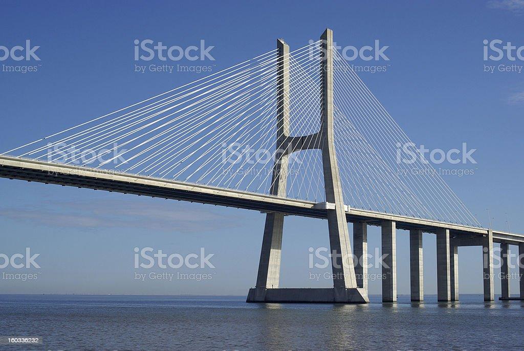 Bridge in Lisbon royalty-free stock photo