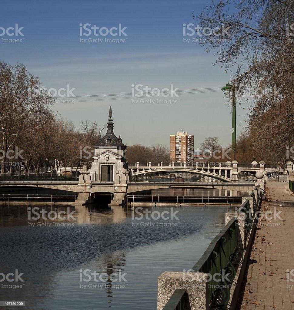 Bridge in Madrid stock photo
