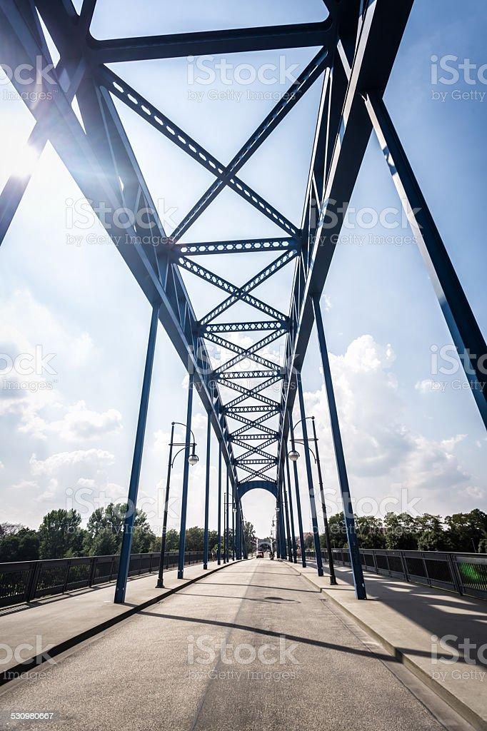 Bridge in Magdeburg stock photo