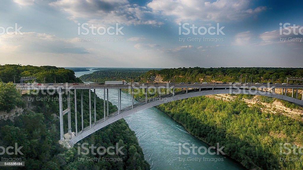 Bridge In Niagara Gorge stock photo