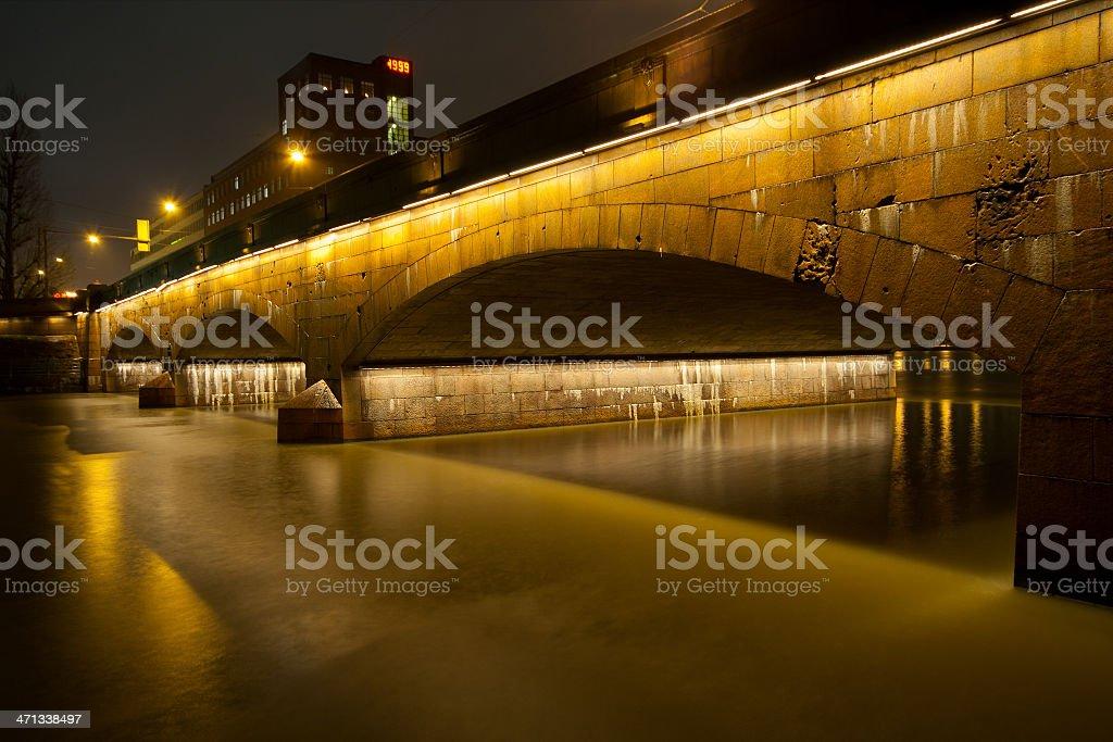 Bridge in night royalty-free stock photo