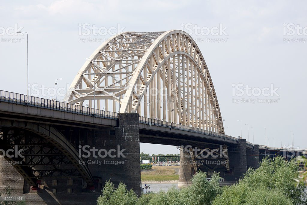 Bridge in Nijmegen stock photo