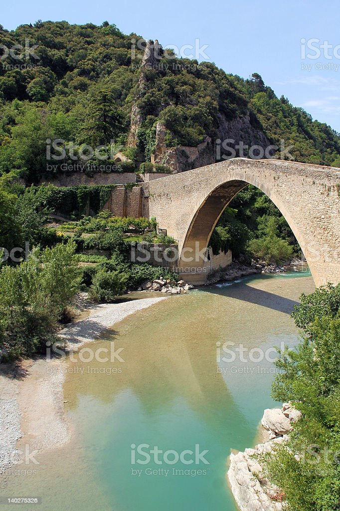 Bridge in Nyons stock photo