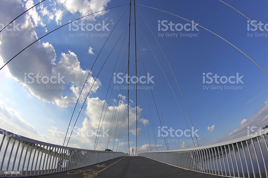 Bridge in Osijek stock photo