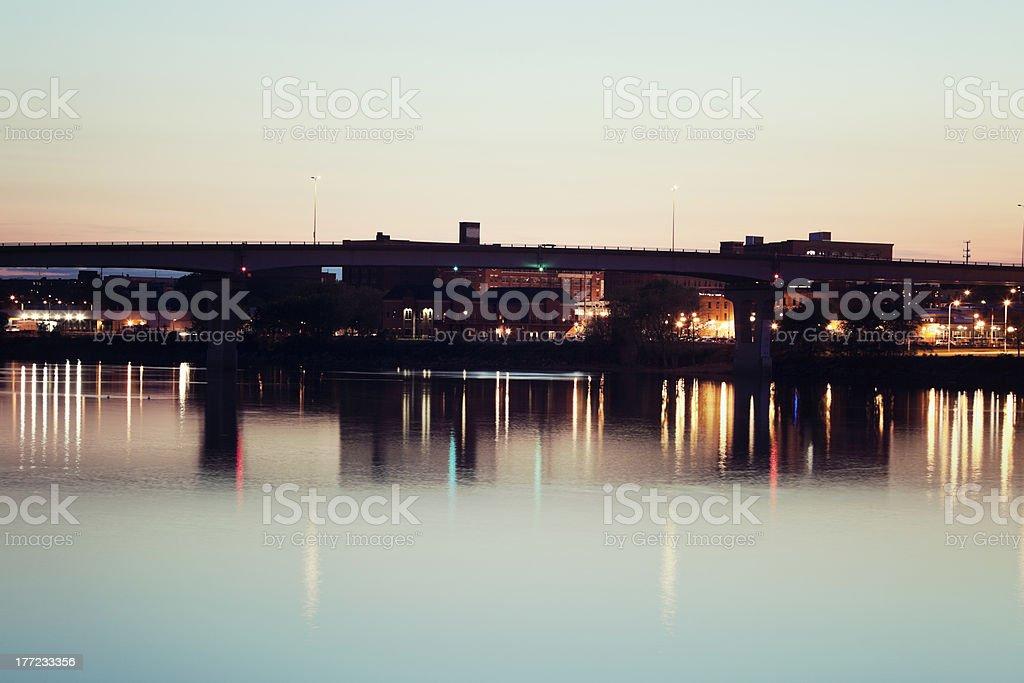 Bridge in Peoria stock photo