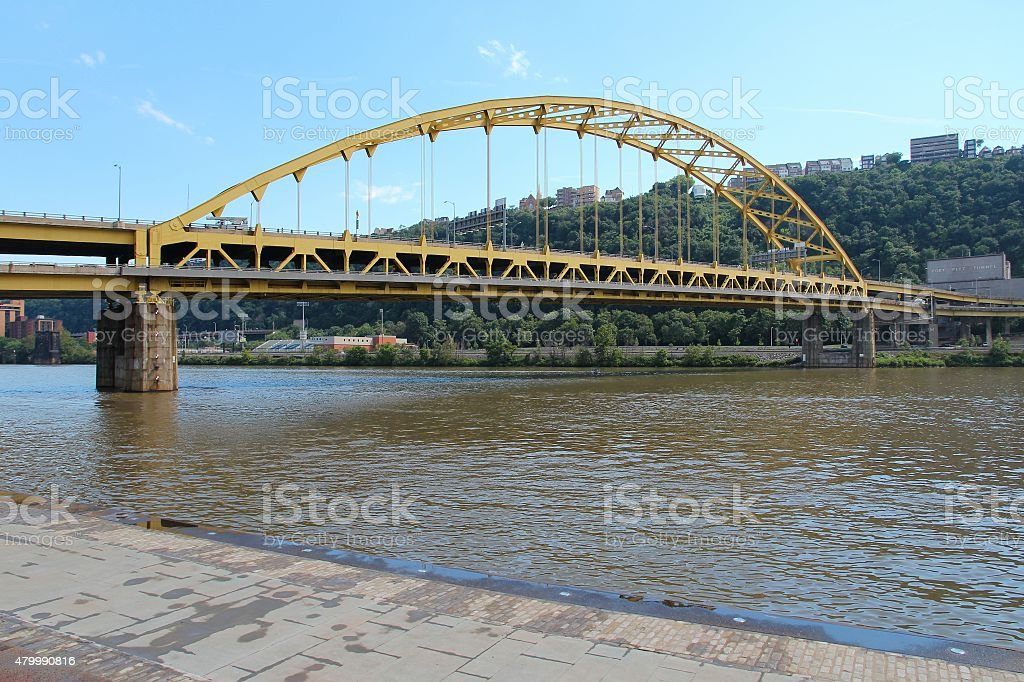 Bridge in Pittsburgh stock photo
