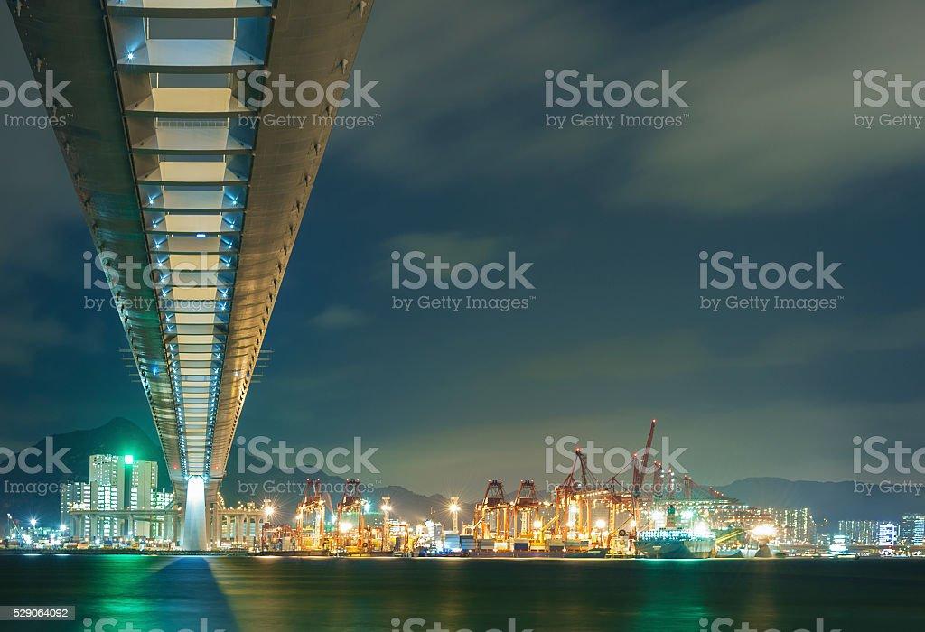 Bridge in Port stock photo