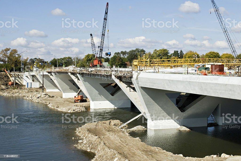 Bridge in Progress royalty-free stock photo