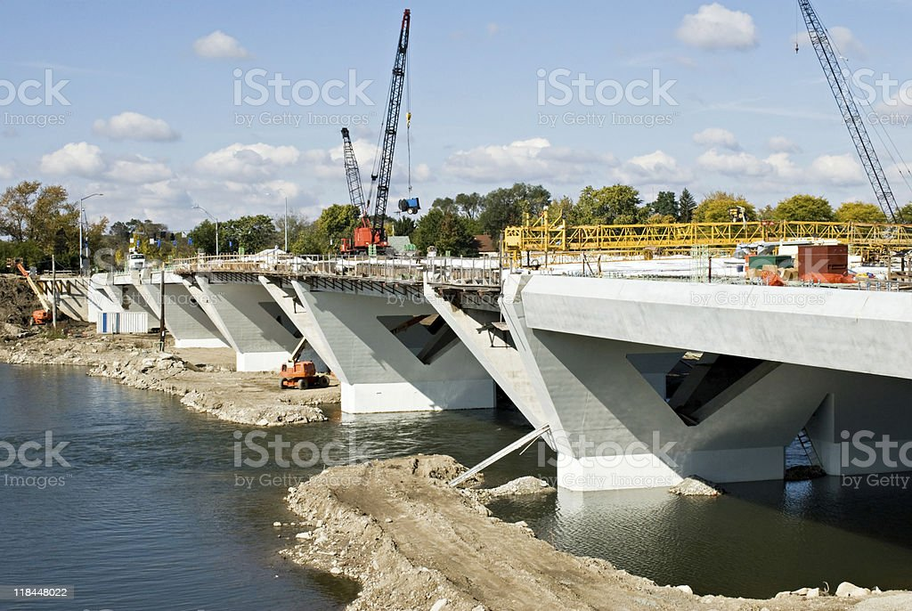 Bridge in Progress stock photo