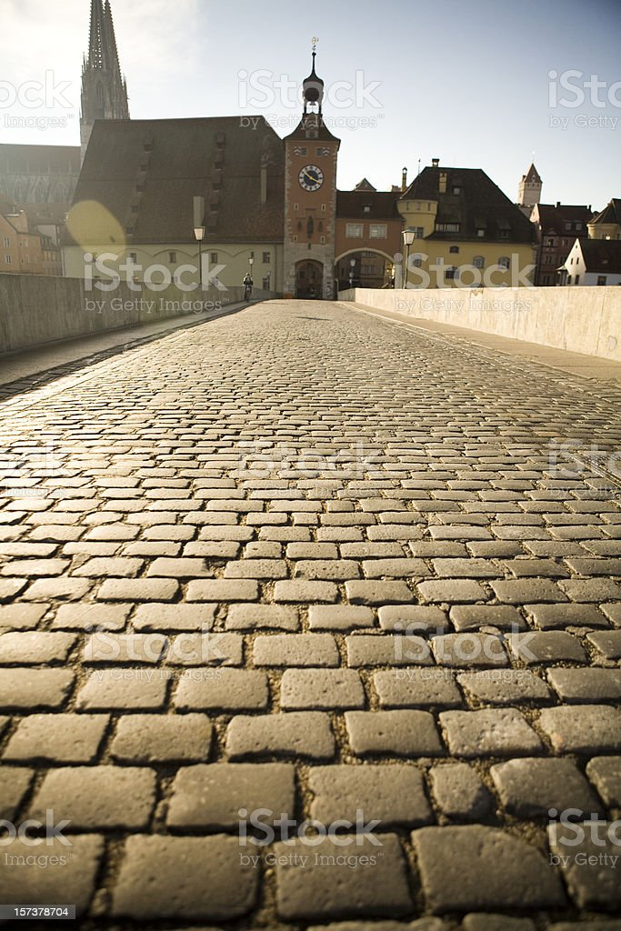 Bridge in Regensburg, Germany royalty-free stock photo