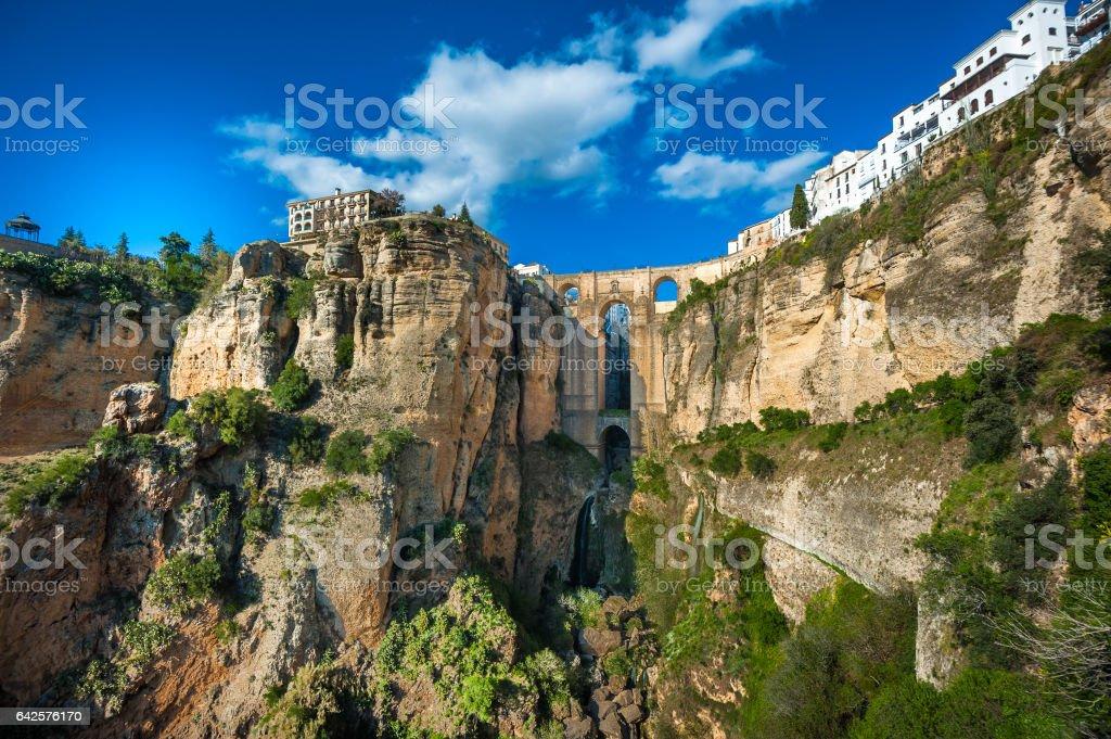 Bridge in Ronda, Andalusia, ronda, Spain stock photo