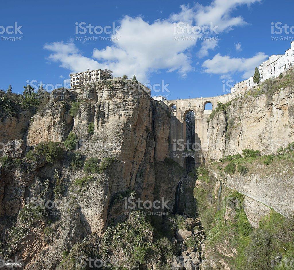 Bridge in Ronda, Andalusia, Spain royalty-free stock photo