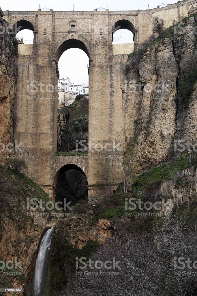 Bridge in Ronda, Spain royalty-free stock photo