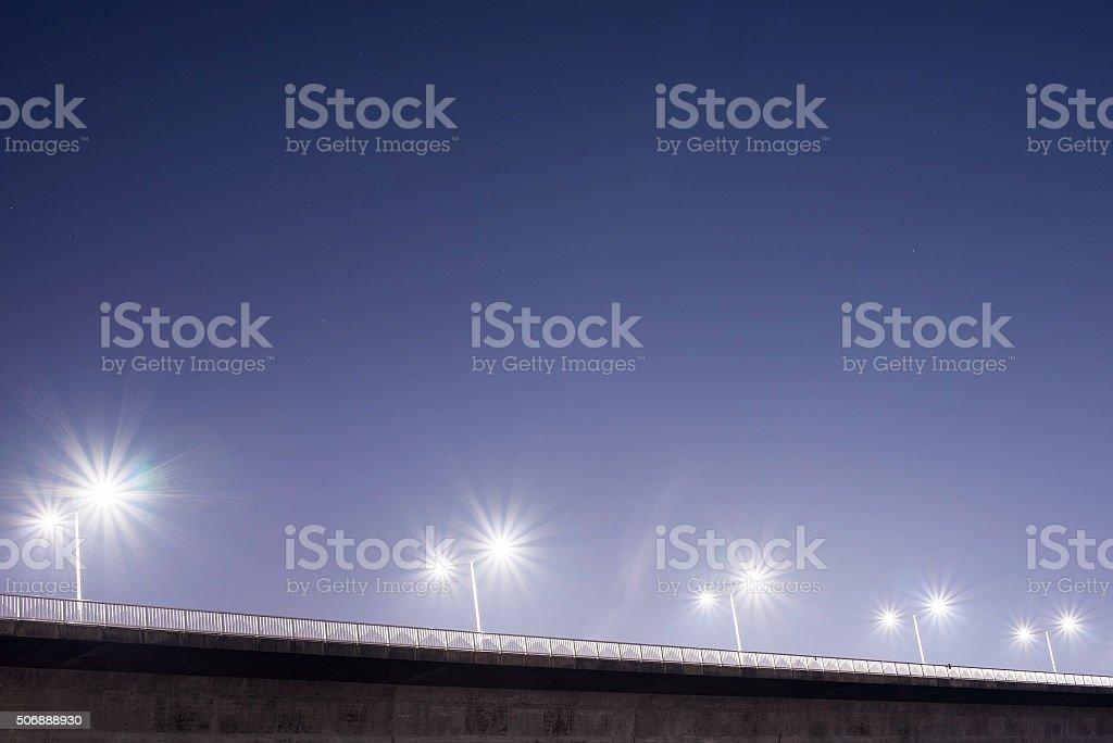 bridge in Seoul at night stock photo