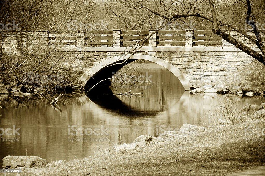 Bridge in Sepia royalty-free stock photo