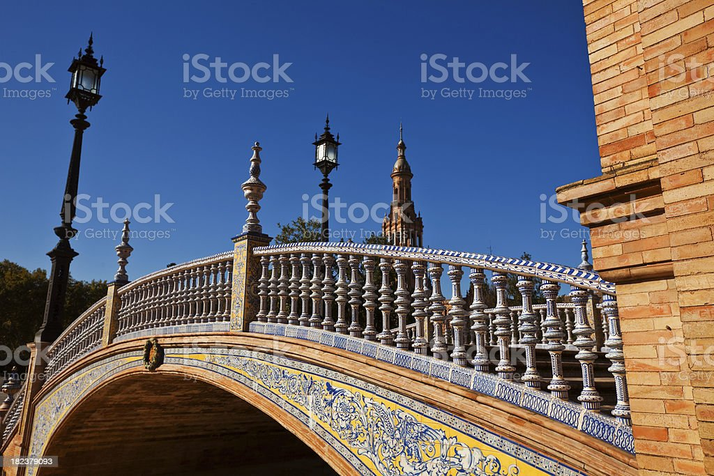bridge in seville royalty-free stock photo
