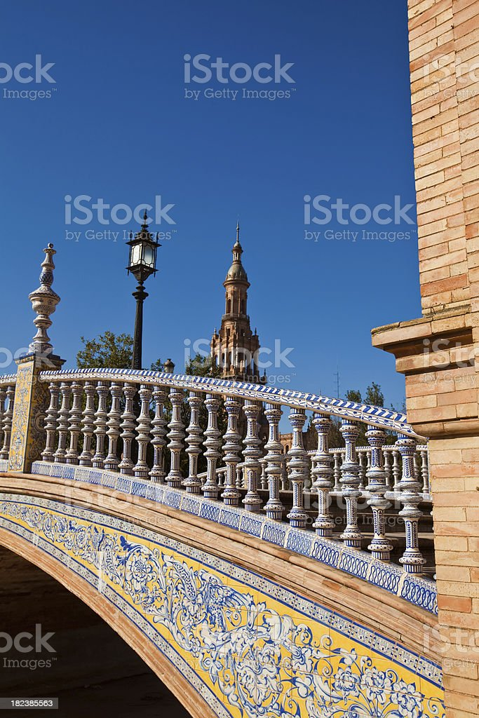 bridge in seville stock photo