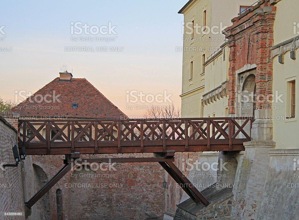 bridge in Spilberk castle, city Brno stock photo