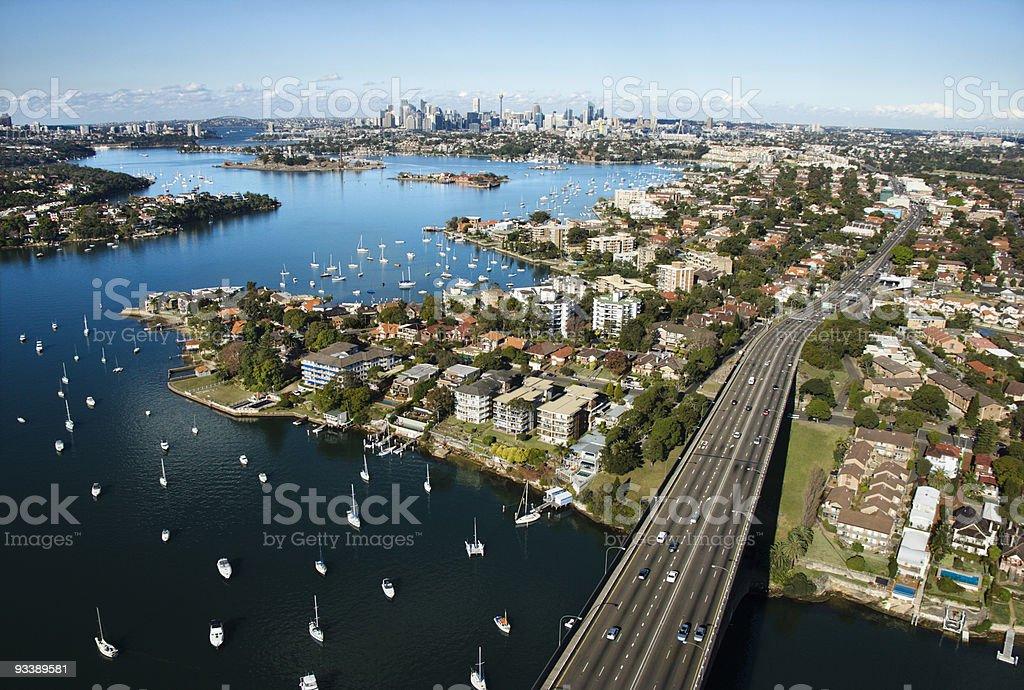 Bridge in Sydney, Australia. stock photo