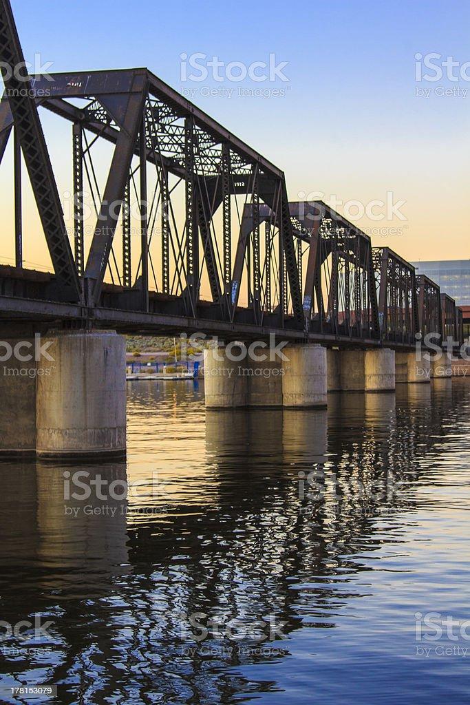 Bridge in Tempe, Arizona royalty-free stock photo