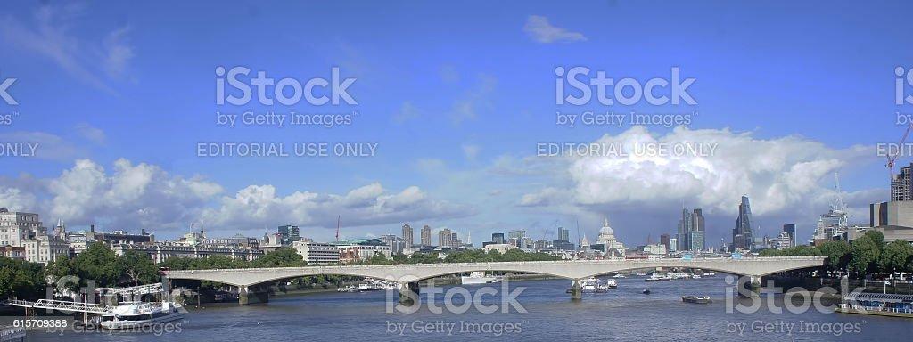 Bridge in thames river stock photo