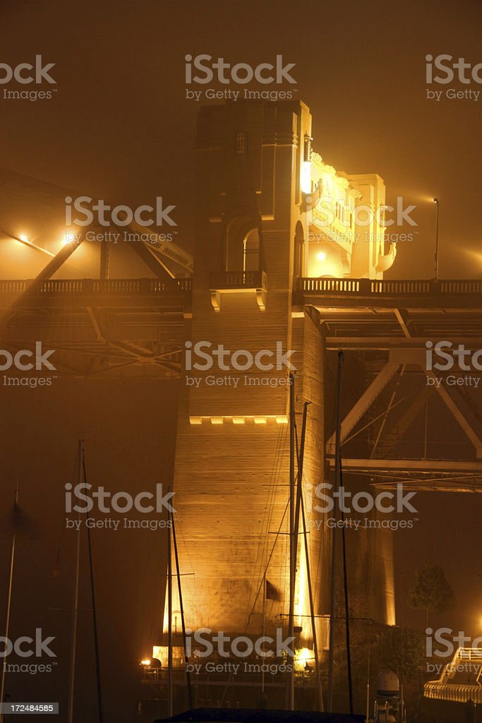 Bridge in the Clouds royalty-free stock photo