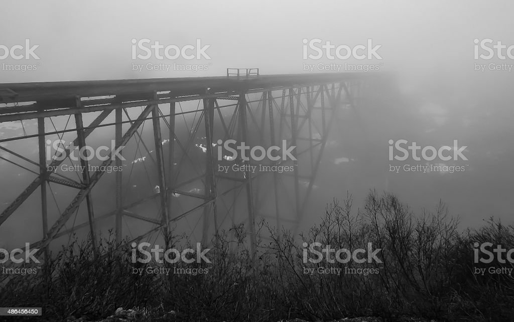 Bridge in the Clouds stock photo