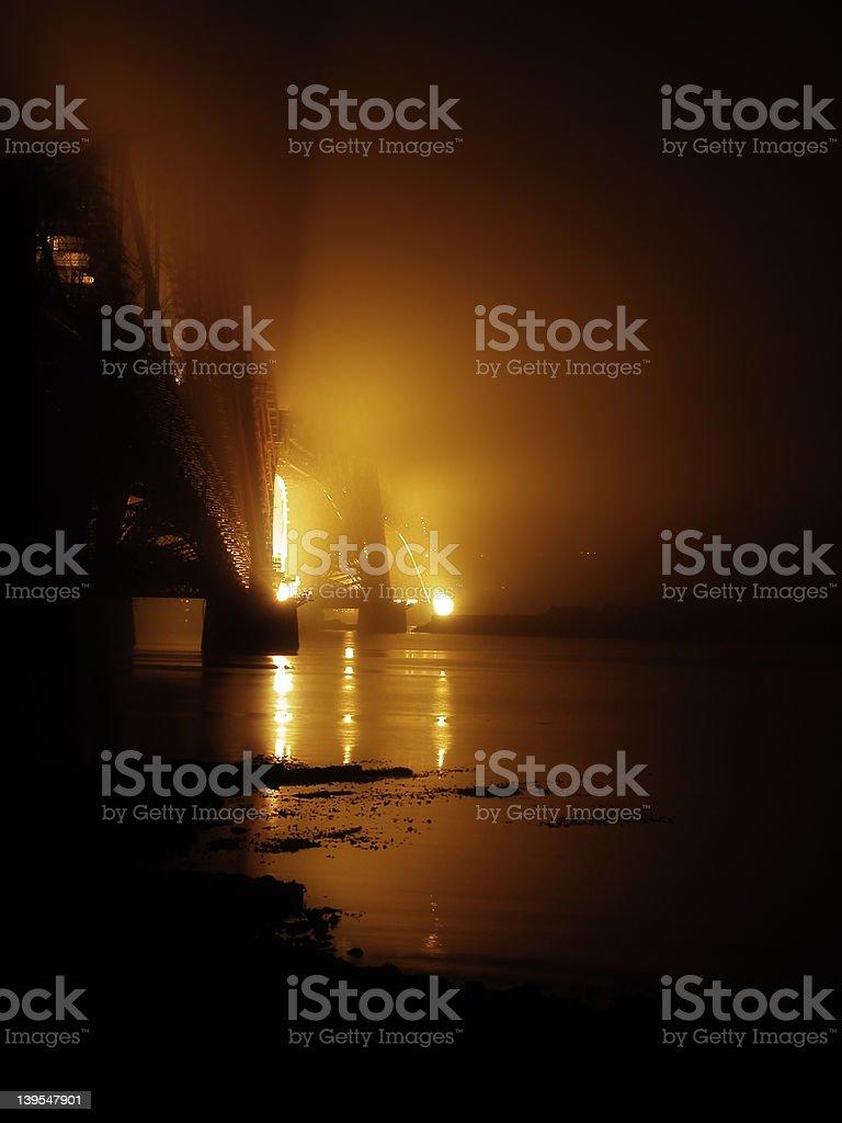 Bridge in the mist royalty-free stock photo
