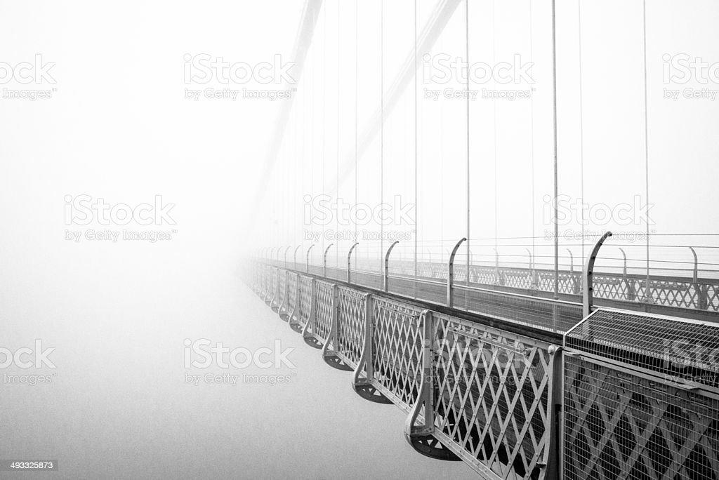 Bridge in the Mist stock photo
