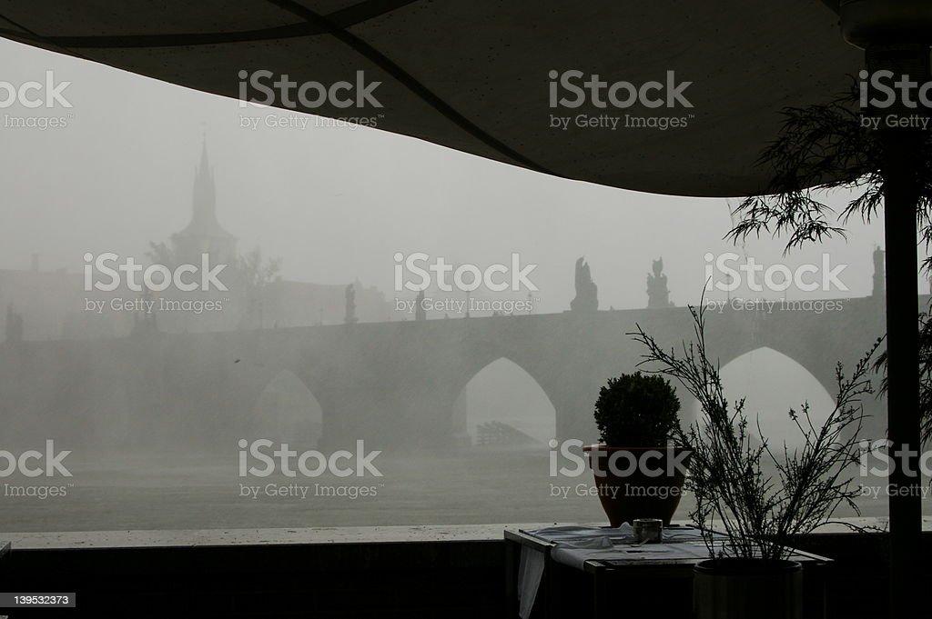 Bridge in the Rain royalty-free stock photo
