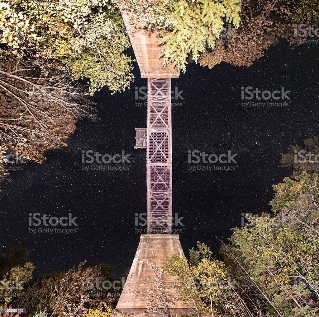 Bridge in the Sky stock photo