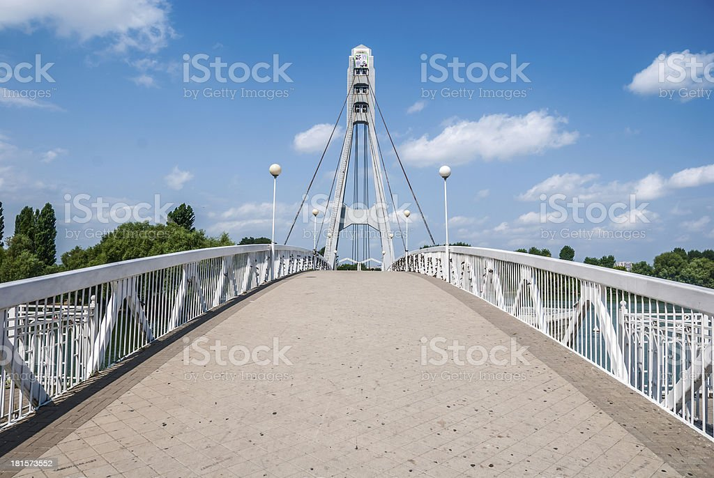 bridge in the summer morning royalty-free stock photo