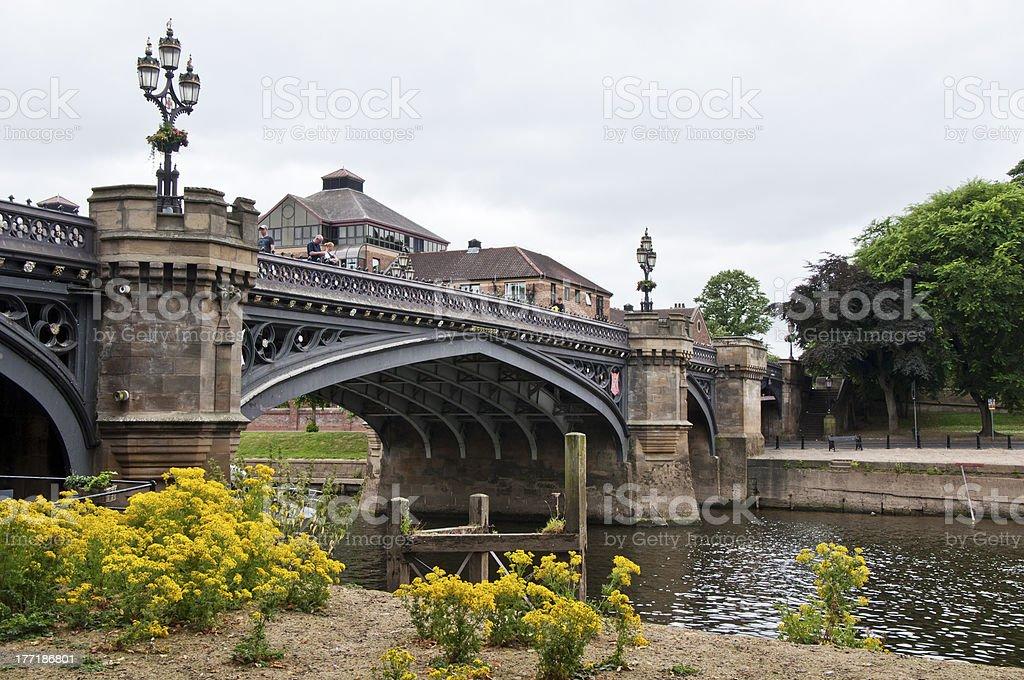 Bridge in York, United Kingdom royalty-free stock photo