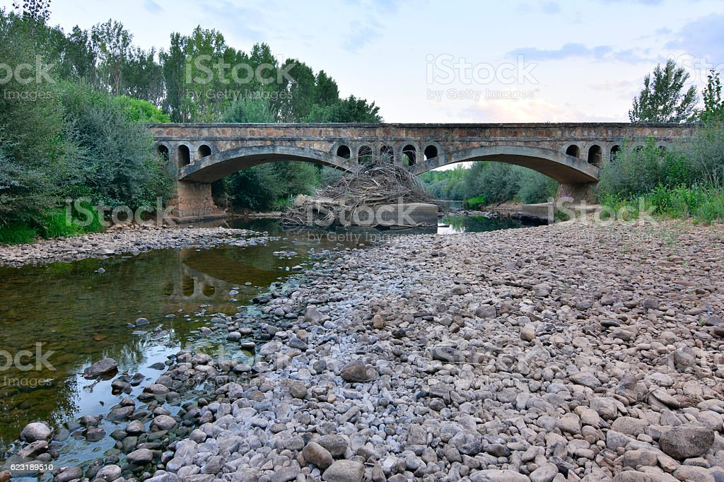 Bridge in Zamora stock photo
