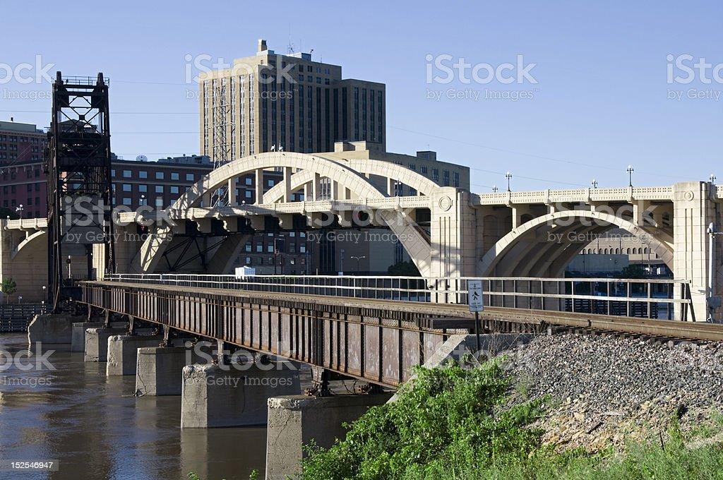Bridge Intersection in Saint Paul royalty-free stock photo