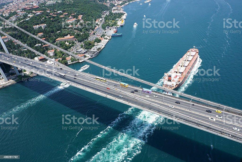 bridge istanbul stock photo