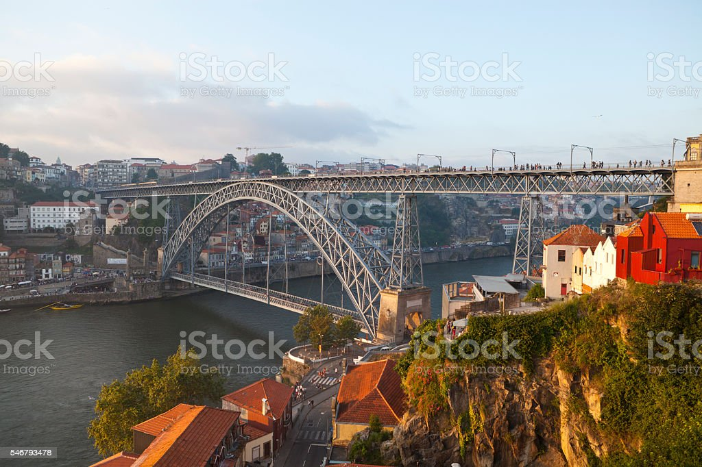 Bridge Luis I in Porto stock photo