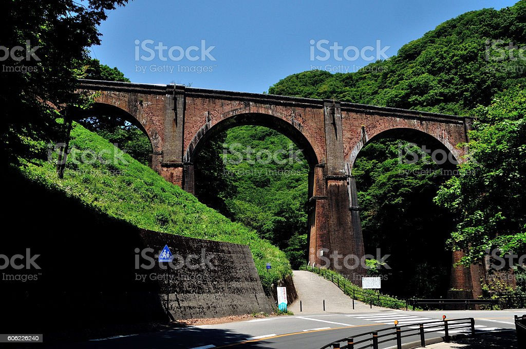 Bridge Mebane-bashi Japan Gunma stock photo