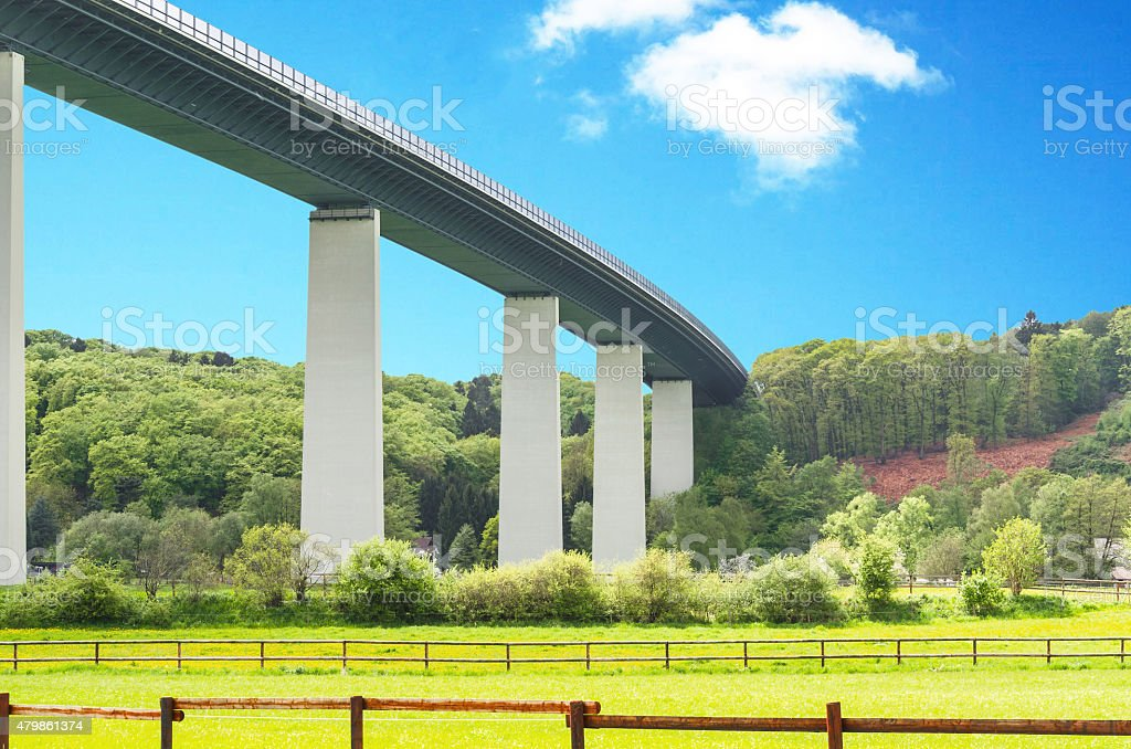 Bridge, Mintarder Ruhrtalbr?cke stock photo