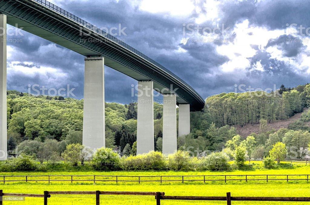 Bridge, Mintarder Ruhrtalbridge stock photo
