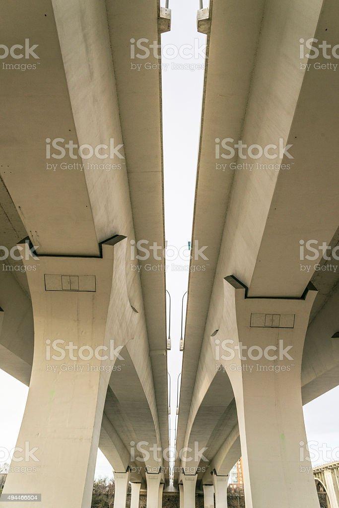35W Bridge Modern Bridge Details stock photo