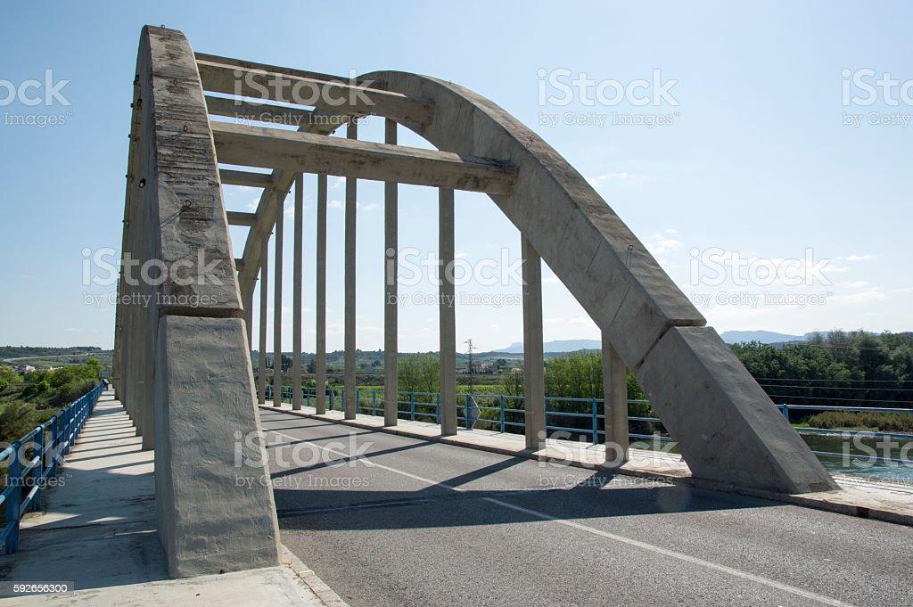 Bridge Mora d'ebre stock photo
