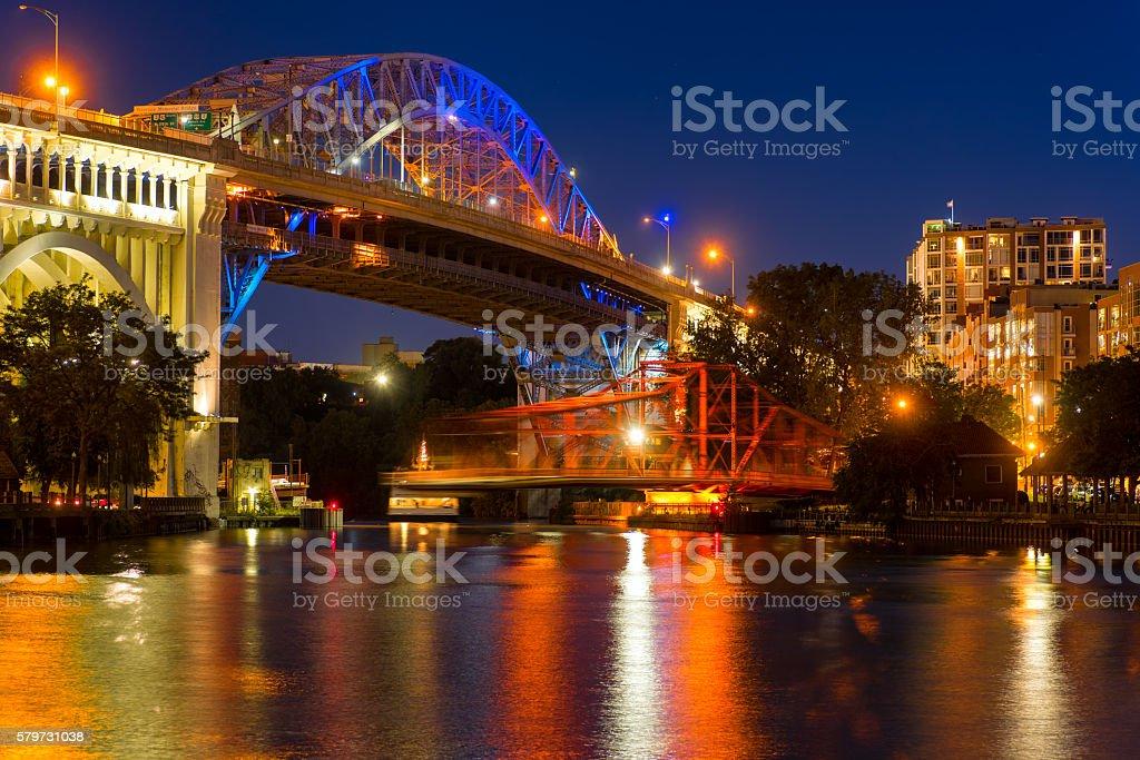 Bridge motion stock photo