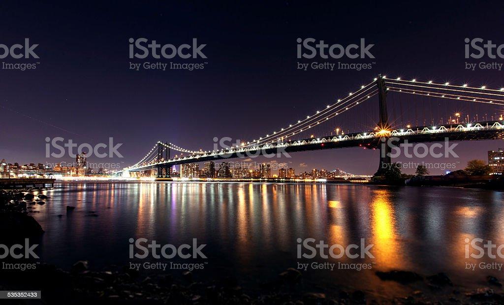 Bridge Night View stock photo